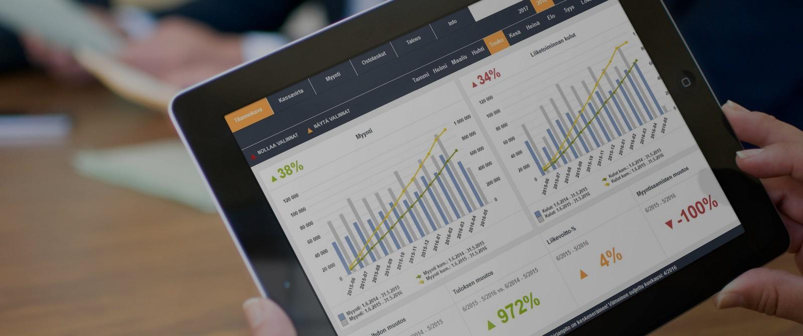 Administerin asiakkaana käytössäsi on nyt markkinoiden kehittynein raportointijärjestelmä osana eFinaa.