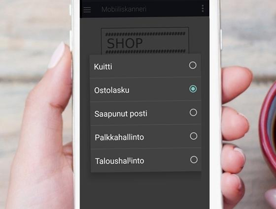 eFina Mobiilissa dokumenttien skannaus helposti